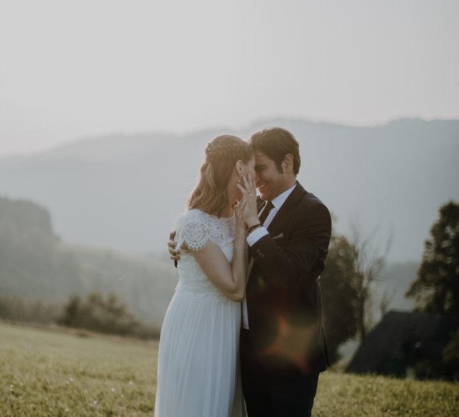 Hochzeitsfotograf-Salzburgkammergut-Brautpaar-Shooting- Berge und Wald 9