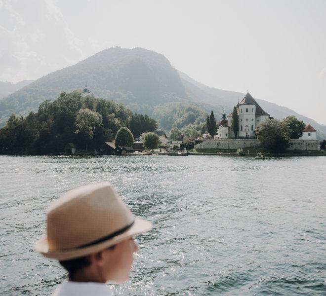 Hochzeitsfotografie-Salzburg-freie Trauung Boot-traunsee-liberty-trauung am see