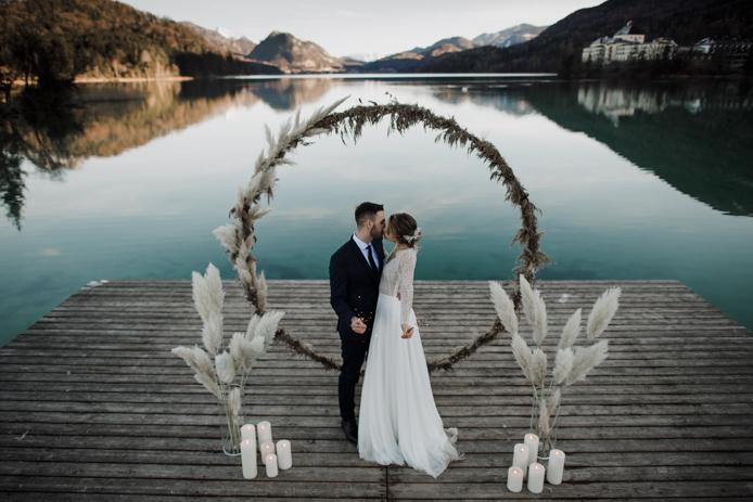 Hochzeitsinspiration Winter Blau